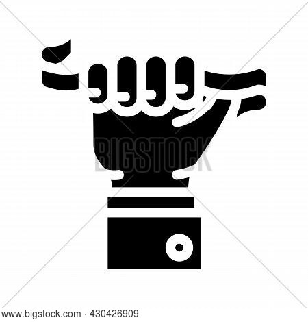Leader Tape Glyph Icon Vector. Leader Tape Sign. Isolated Contour Symbol Black Illustration