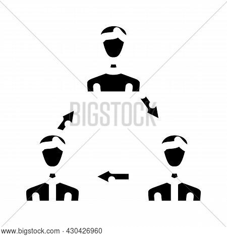 Interaction People Glyph Icon Vector. Interaction People Sign. Isolated Contour Symbol Black Illustr