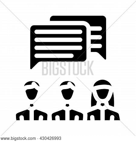 Communication People Glyph Icon Vector. Communication People Sign. Isolated Contour Symbol Black Ill