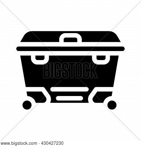 Waste Container Glyph Icon Vector. Waste Container Sign. Isolated Contour Symbol Black Illustration