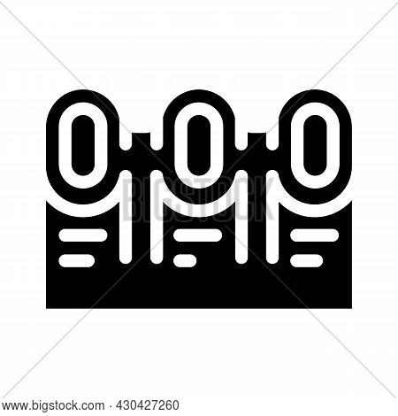 Waste Sorting Bins Glyph Icon Vector. Waste Sorting Bins Sign. Isolated Contour Symbol Black Illustr