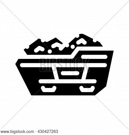 Construction Waste Container Glyph Icon Vector. Construction Waste Container Sign. Isolated Contour