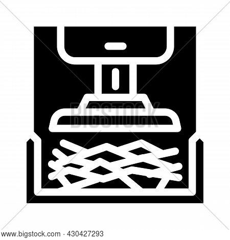 Pressing Solid Waste Glyph Icon Vector. Pressing Solid Waste Sign. Isolated Contour Symbol Black Ill