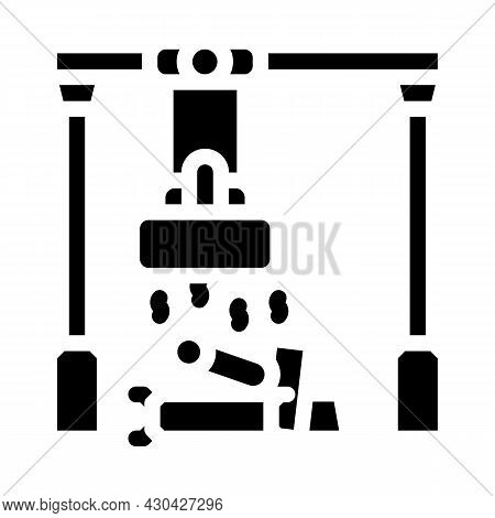 Sorting Metals Glyph Icon Vector. Sorting Metals Sign. Isolated Contour Symbol Black Illustration