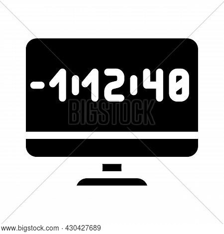 Countdown Video Conference Glyph Icon Vector. Countdown Video Conference Sign. Isolated Contour Symb