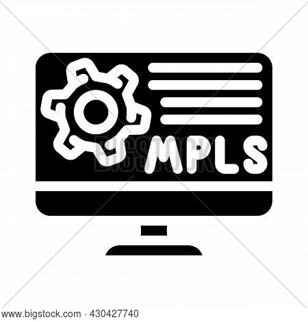 Mpls Protocol Glyph Icon Vector. Mpls Protocol Sign. Isolated Contour Symbol Black Illustration