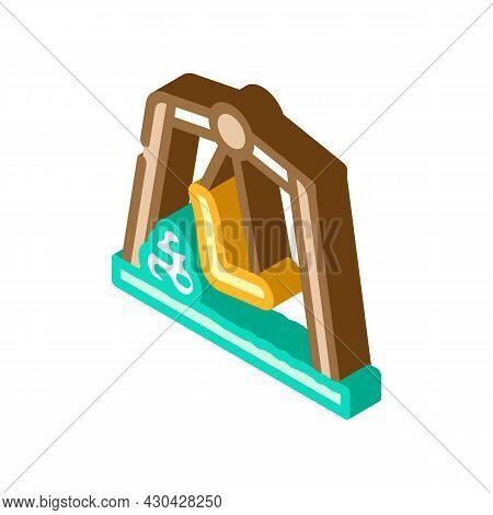 Garden Backyard Furniture Isometric Icon Vector. Garden Backyard Furniture Sign. Isolated Symbol Ill
