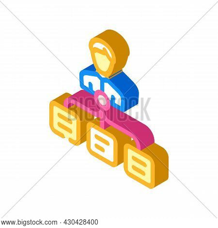 Task Management Isometric Icon Vector. Task Management Sign. Isolated Symbol Illustration