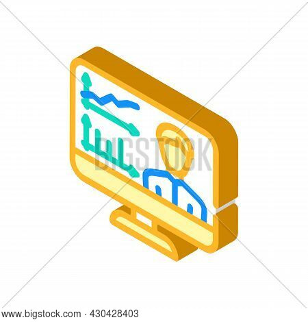 Skills Researching Online Isometric Icon Vector. Skills Researching Online Sign. Isolated Symbol Ill
