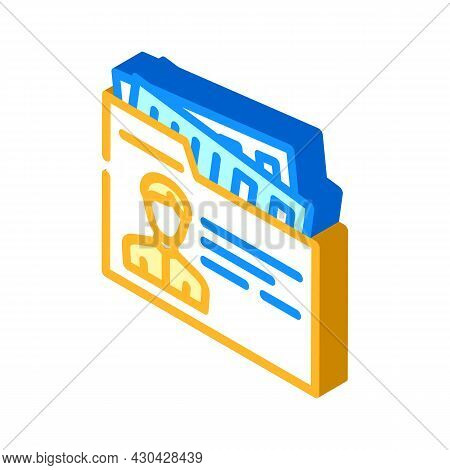Private Business Businessman Isometric Icon Vector. Private Business Businessman Sign. Isolated Symb