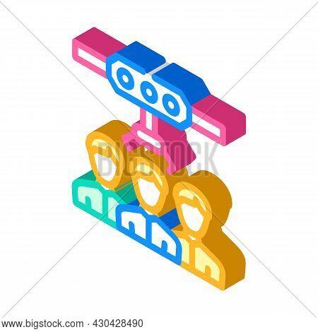 Employee Selection Isometric Icon Vector. Employee Selection Sign. Isolated Symbol Illustration