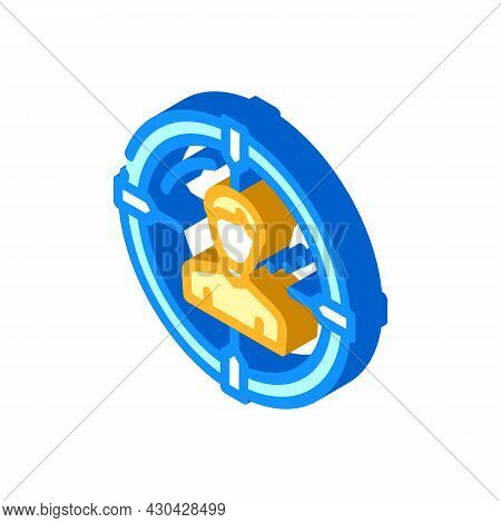 Headhunting Employee Isometric Icon Vector. Headhunting Employee Sign. Isolated Symbol Illustration