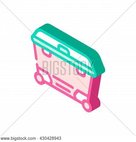 Waste Container Isometric Icon Vector. Waste Container Sign. Isolated Symbol Illustration