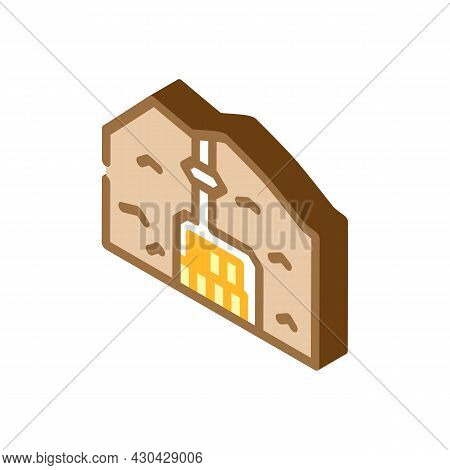 Special Burial In Mountain Isometric Icon Vector. Special Burial In Mountain Sign. Isolated Symbol I