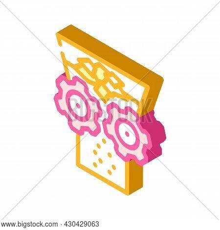Shredding Solid Waste Isometric Icon Vector. Shredding Solid Waste Sign. Isolated Symbol Illustratio