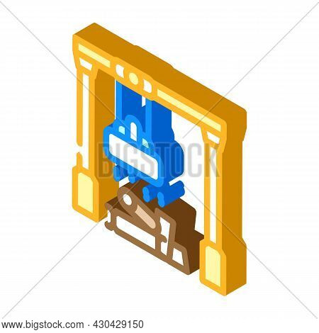 Sorting Metals Isometric Icon Vector. Sorting Metals Sign. Isolated Symbol Illustration