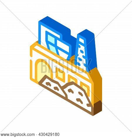 Industrial Processing Solid Waste Isometric Icon Vector. Industrial Processing Solid Waste Sign. Iso