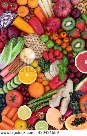 Healthy plant based vegan super food high in antioxidants, dietary fibre, anthocyanins, vitamins, minerals, lycopene, carotenoids, smart carbs. Health food, sustainable, ethical eating concept.