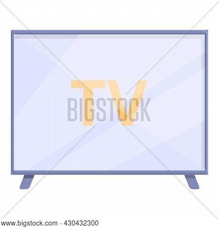 Smart Tv Icon Cartoon Vector. Screen Television. Digital Multimedia