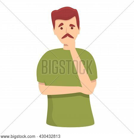 Man Thinking Icon Cartoon Vector. Complex Strategy. Confused Choice