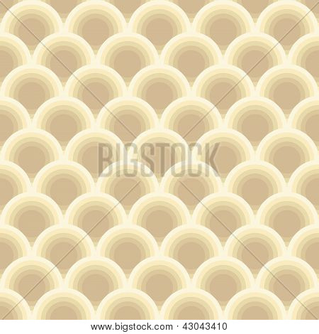 round pastel pattern seamless - clip art illustration poster