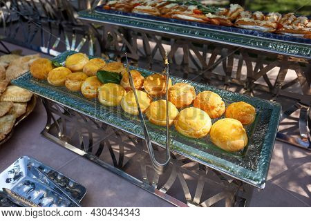 Cold Snacks At The Buffet Table, Catering.