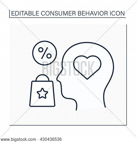 Interest Line Icon. Customer Interest About Goods And Services. Research Personal Customer Preferenc