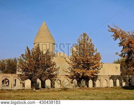 Medieval Mausoleum Chashma Ayub (features A Conical Dome Uncommon In Bukhara) And Remains Of Outer W