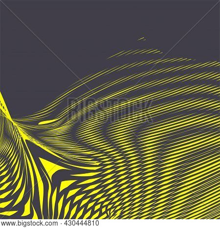 Trendy Wavy Abstract Background With Stripes Deformation Effect In Fashion Colors Of The Year.. Mode