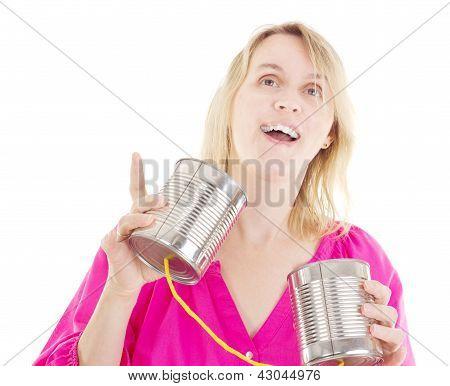 Person Having A Conversation