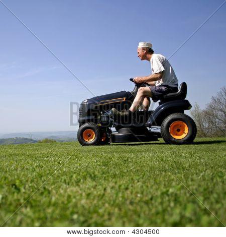 Man Lawn Mower