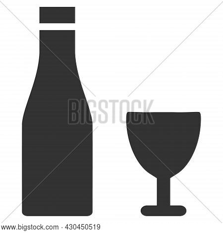 Alcohol Drinks Icon With Flat Style. Isolated Vector Alcohol Drinks Icon Image On A White Background