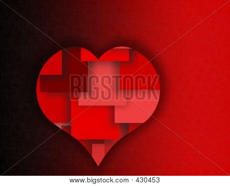 Red Layered Heart - Symbols Of Love And Romance
