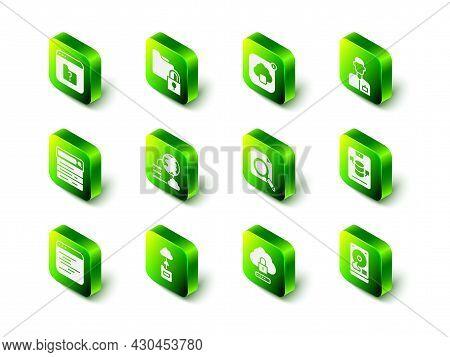 Set Folder And Lock, Cloud Technology Data Transfer, Analyst Engineer, Server, Data, Web Hosting, Ha