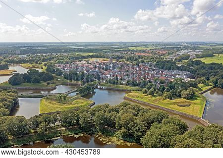 Aerial from the city Naarden in the Netherlands