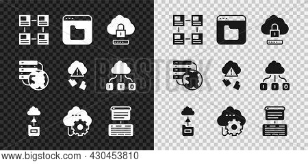 Set Hierarchy Organogram Chart, Browser Files, Cloud Computing Lock, Technology Data Transfer, Serve