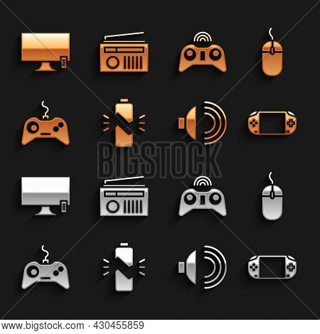 Set Broken Battery, Computer Mouse, Portable Video Game Console, Speaker Volume, Gamepad, Wireless G