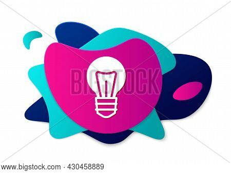 Color Light Bulb With Concept Of Idea Icon Isolated On White Background. Energy And Idea Symbol. Ins