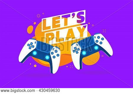 Let's Play Text With Game Controllers Or Joysticks For Game Console.