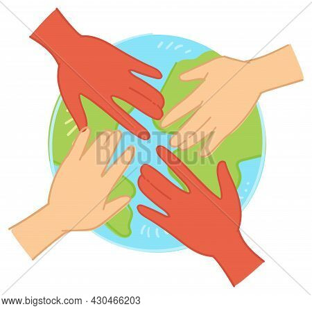 Environmental Care And Unity Of Humanity Vector