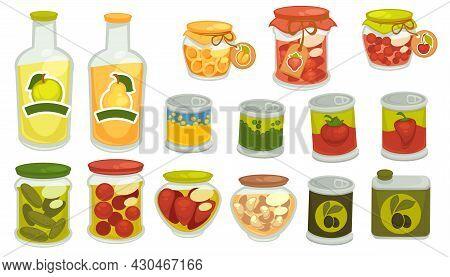 Pickles And Marinated Veggies, Juices In Jars