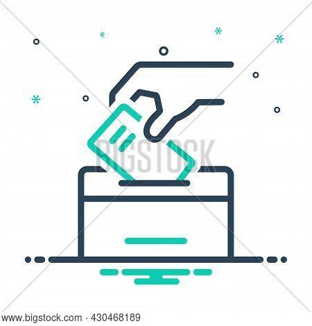Mix Icon For Elect Vote-for Vote-in Ballot Select Pick Election Ballot-box Democracy Casting-vote Ca