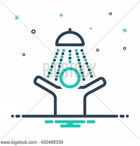 Mix Icon For Feeling Taking-shower Bath Hygienic Douche Happy Feeling-good Awareness Titillation Rel