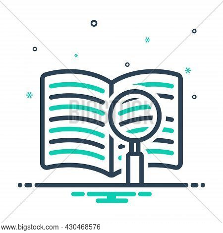 Mix Icon For Definition Book Catalog Database Article Clear Document Investigate Magnifing-glass