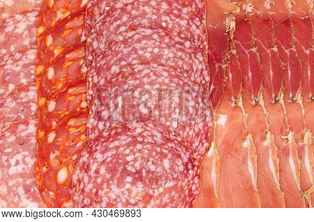 Smoked Prosciutto And Salami Meat Product Background