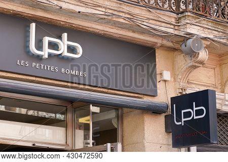 Bordeaux , Aquitaine France - 08 15 2021 : Lpb Les Petites Bombes Brand Text And Logo Sign For Trend
