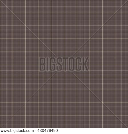 Geometric Vector Grid. Seamless Fine Abstract Pattern. Modern Background With Golden Grid