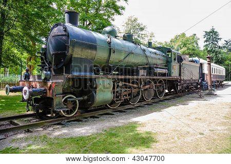 Steam Locomotive And Pullman Rail Wagon