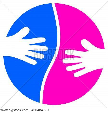 Cooperation Hands Icon With Flat Style. Isolated Vector Cooperation Hands Icon Image On A White Back