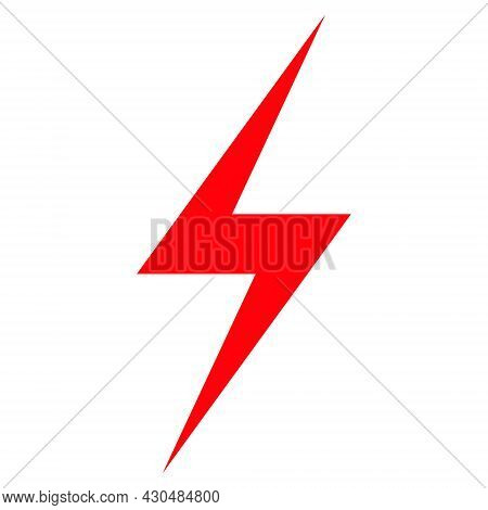 Electric Strike Icon With Flat Style. Isolated Vector Electric Strike Icon Image On A White Backgrou